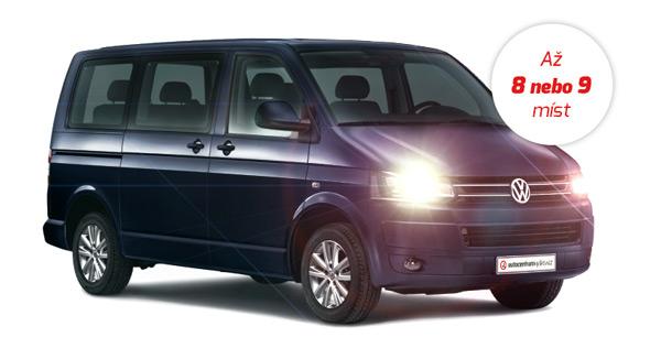 Pronájem mikrobusu VW Caravelle