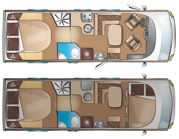 layout vozu